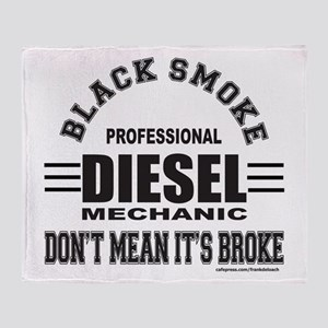 DIESEL MECHANIC Throw Blanket