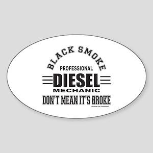 DIESEL MECHANIC Sticker (Oval)