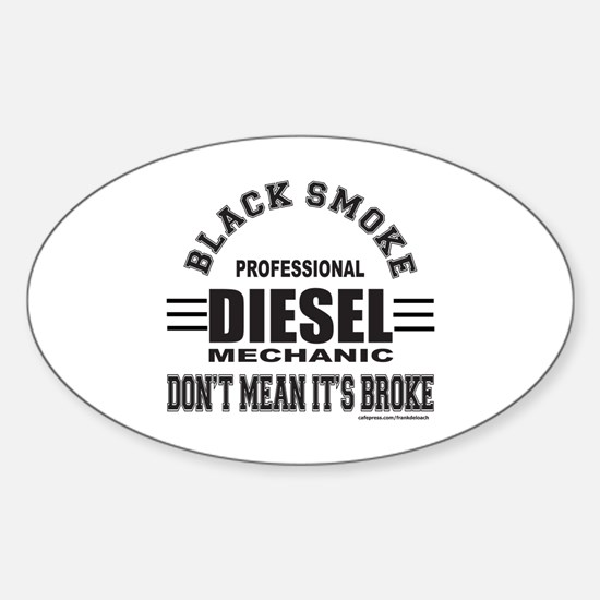 DIESEL MECHANIC Sticker (Oval)