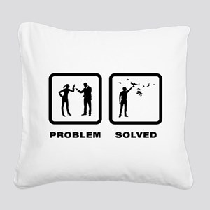 Pigeon Lover Square Canvas Pillow