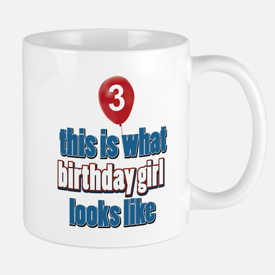 3 year old birthday girl designs Mug