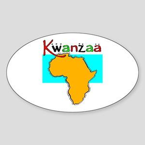 Happy Kwanzaa! Oval Sticker