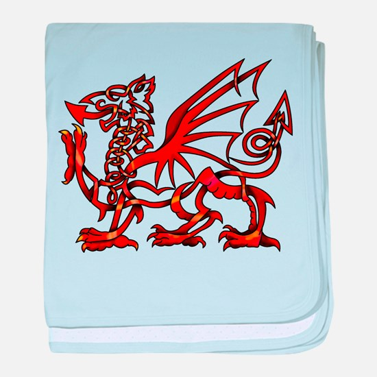 Welsh Dragon baby blanket