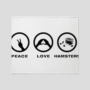 Hamster Lover Throw Blanket