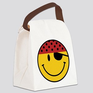 Funny Pirate Smiley Canvas Lunch Bag