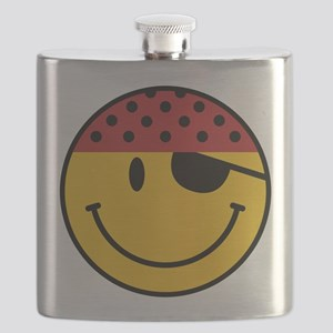 Funny Pirate Smiley Flask