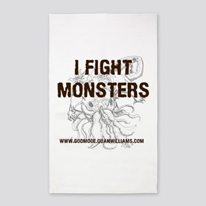 I Fight Monsters 3'x5' Area Rug