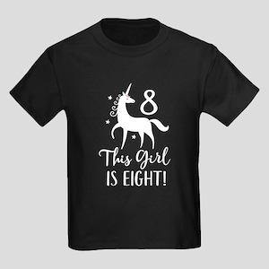 8th Birthday Girls Unicorn T-Shirt