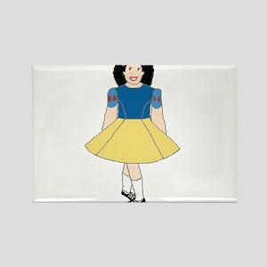 Snow White Dancer Rectangle Magnet