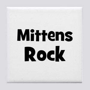 mittens rock Tile Coaster