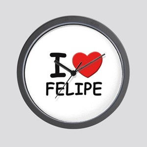 I love Felipe Wall Clock