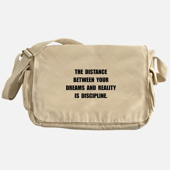 Discipline Quote Messenger Bag