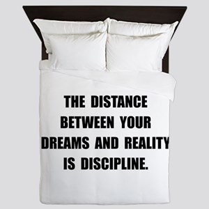 Discipline Quote Queen Duvet