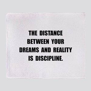 Discipline Quote Throw Blanket