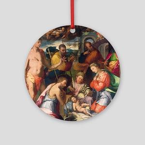Perino del Vaga - The Nativity Ornament (Round)
