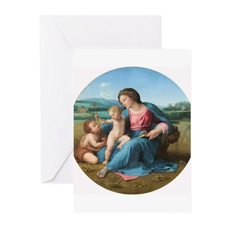 Raphael - The Alba Madonna Greeting Cards (Pk of 1