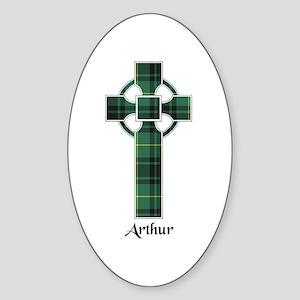 Cross - Arthur Sticker (Oval)