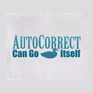 Autocorrect Duck Throw Blanket