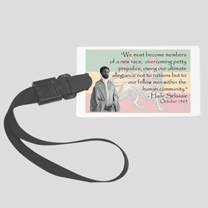Haile Selassie Large Luggage Tag