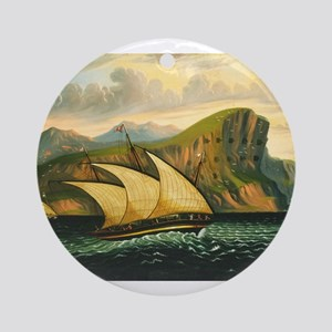 Thomas Chambers - Felucca off Gibraltar Ornament (
