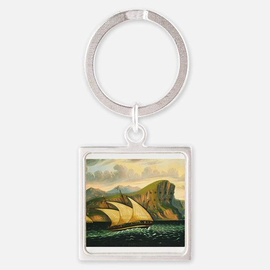 Thomas Chambers - Felucca off Gibraltar Keychains