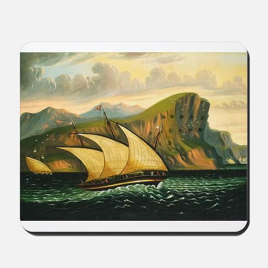 Thomas Chambers - Felucca off Gibraltar Mousepad