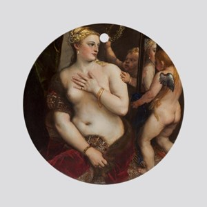 Titian - Venus with a Mirror Ornament (Round)