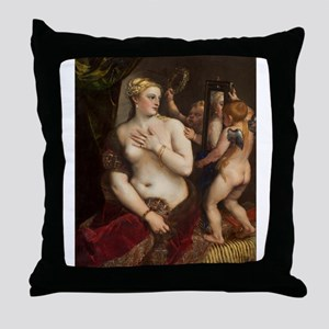 Titian - Venus with a Mirror Throw Pillow