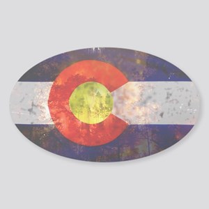 Colorado Wildfire Flag Sticker (Oval)