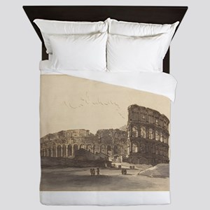 Victor Jean Nicolle - The Colosseum Queen Duvet