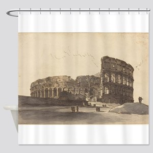 Victor Jean Nicolle - The Colosseum Shower Curtain