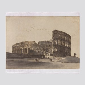 Victor Jean Nicolle - The Colosseum Throw Blanket