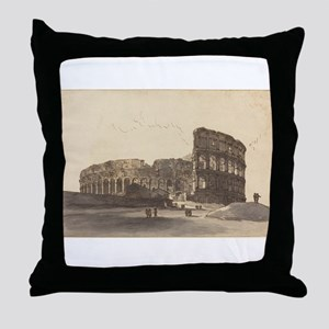 Victor Jean Nicolle - The Colosseum Throw Pillow