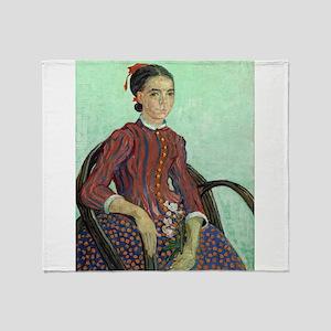 Vincent Van Gogh - La Mousme Throw Blanket