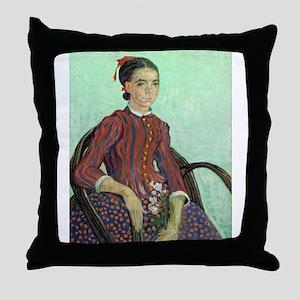 Vincent Van Gogh - La Mousme Throw Pillow