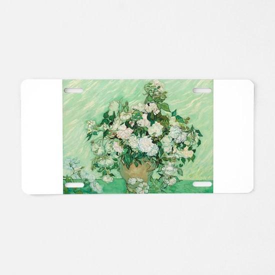 Vincent Van Gogh - Roses Aluminum License Plate