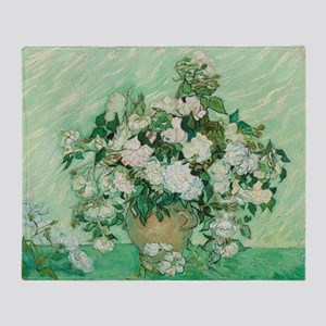 Vincent Van Gogh - Roses Throw Blanket