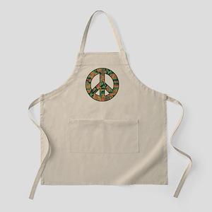 Camo Peace Symbol Apron