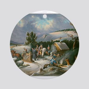 Washington at Valley Forge Ornament (Round)