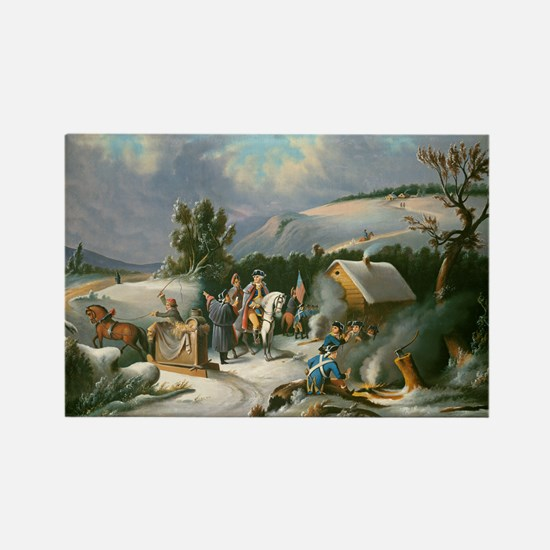 Washington at Valley Forge Rectangle Magnet