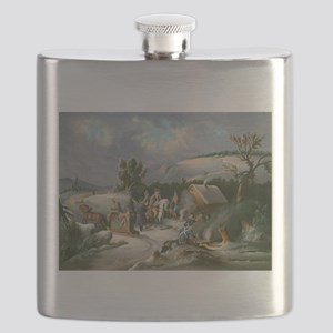 Washington at Valley Forge Flask