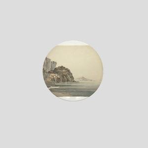 William Pars - An Italian Coast Scene Mini Button