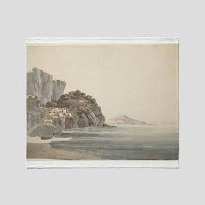 William Pars - An Italian Coast Scene Throw Blanke
