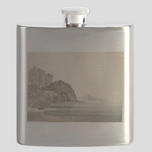 William Pars - An Italian Coast Scene Flask