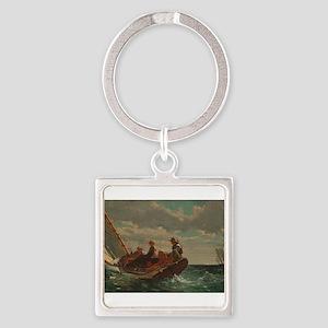 Winslow Homer - Breezing Up (A Fair Wind) Keychain