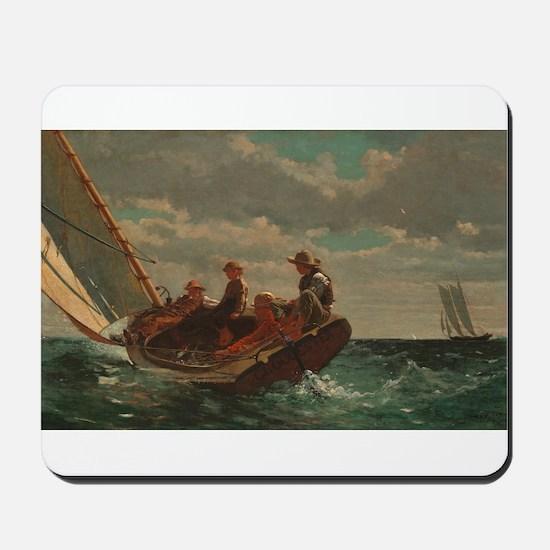 Winslow Homer - Breezing Up (A Fair Wind) Mousepad