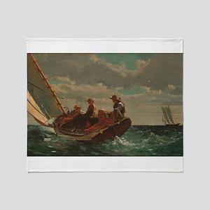Winslow Homer - Breezing Up (A Fair Wind) Throw Bl