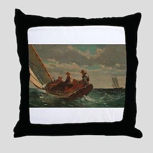 Winslow Homer - Breezing Up (A Fair Wind) Throw Pi