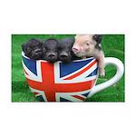 Tea Cup Piggies Rectangle Car Magnet