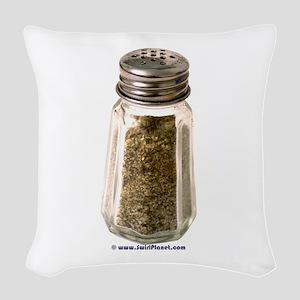 Pepper Shaker Woven Throw Pillow